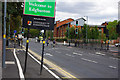 SP0483 : Welcome to Edgbaston - sign on Bristol Road, Bournbrook by Phil Champion