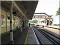 TQ3556 : Woldingham Station: up platform by Stephen Craven