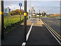 SP0483 : Bus stop and shared use path alongside the New Fosse Way by Phil Champion