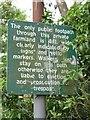 SE3938 : Notice on Leeds Country Way by Derek Harper