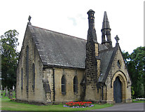 SE1039 : Bingley - cemetery chapel by Dave Bevis