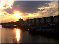 TQ3679 : Evening over Greenland Dock by Stephen Craven