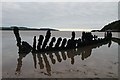 NX6548 : A boat wreck in Nun Mill Bay by Walter Baxter