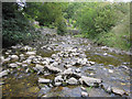 SD8267 : Stainforth Beck upstream from the stepping stones by John S Turner