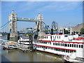 TQ3380 : Tower Bridge and Pleasure Boat by Colin Smith