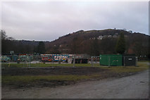 SD9927 : Re-developing the skate park at Calder Holmes Park, Hebden Bridge by Phil Champion