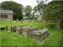 SD9350 : The Parish Church of All Saints, Broughton with Elslack, Graveyard by Alexander P Kapp