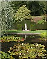 SS9615 : Lily pond and nymph, Knightshayes Court by Derek Harper