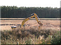SP2280 : Machine working in a sand and gravel quarry by Robin Stott