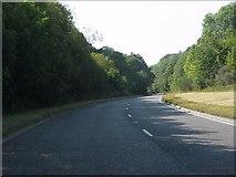 SO2956 : A44 Kington bypass curving near Newton by Peter Whatley