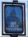 NU2519 : Sign for the Jolly Fisherman by Maigheach-gheal