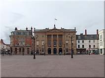 SK7953 : Newark market square looking towards the Buttermarket/ Town Hall by Neil Theasby