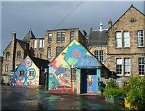 NT2674 : Leith Walk School playground by kim traynor
