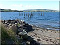 NM5743 : Remains of Salen Old Pier by Oliver Dixon