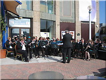 SY6878 : Band outside the Pavilion, Weymouth by Alex McGregor