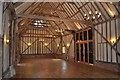 TM3366 : Bruisyard Hall - Barn by Ashley Dace