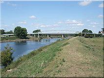 SK8174 : Pipeline bridge over the Trent by Tim Heaton