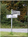 TM2458 : Roadsign at Monewden Road Junction by Adrian Cable
