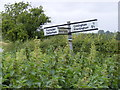 TM2260 : Roadsign at the Bird's Lane junction by Adrian Cable