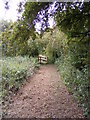 TM2158 : Footpath to Otley Road by Adrian Cable