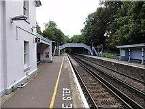 TR2548 : Shepherdswell, Station Road, Shepherds Well Railway station (Southeastern) by Helmut Zozmann