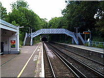 TR2548 : Shepherdswell, Station Road, Shepherds Well Railway station (Southeastern) by Raimund Zozmann