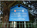 NZ2557 : Parish Church of St Andrew, Lamesley, Sign by Alexander P Kapp