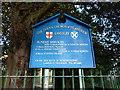 NZ2557 : Parish Church of St Andrew, Lamesley, Sign by Alexander P Kapp