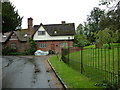 SP9019 : Houses adjacent to Mentmore Churchyard by Basher Eyre