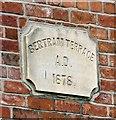 SJ9494 : Bertram Terrace Date Stone 1878 by Gerald England