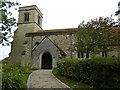 SP8328 : Holy Trinity, Drayton Parslow- church path by Basher Eyre