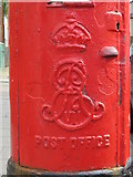 TQ2284 : Edward VII postbox, Grange Road, NW10 - royal cipher by Mike Quinn