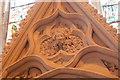 TQ9017 : Green Man Carving, Winchelsea Church by Julian P Guffogg