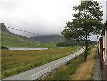 SH5752 : Welsh Highland Railway beside the A4085 near Rhyd Ddu by Gareth James