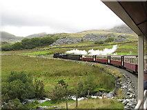 SH5752 : Welsh Highland Railway on Ffridd Isaf curves, north of Rhyd Ddu by Gareth James