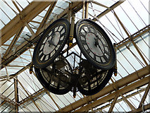 TQ3179 : Clock, Waterloo Station, London SE1 by Christine Matthews