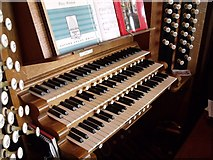 TF3244 : Organ Console, St Botolph's Church, Boston by J.Hannan-Briggs