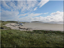 NF6905 : Plane on the beach, Barra by Hugh Venables