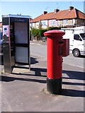TM2649 : Former Telephone Box & 37-39 Warwick Avenue George V Postbox by Geographer