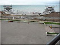 TQ7407 : Restoration works at the De La Warr Pavilion, Bexhill-on-Sea by Jeremy Bolwell
