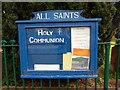 NY6129 : All Saints Church, Culgaith, Noticeboard by Alexander P Kapp