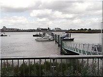 TQ3979 : Bugsby's Reach Pier, North Greenwich by David Anstiss