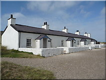 SH3862 : Pilot's cottages on Llanddwyn Island by Jeremy Bolwell