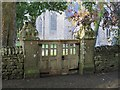 NY9448 : The gates to St. James's Church, Hunstanworth by Mike Quinn