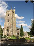 TM2373 : All Saints' church in Stradbroke by Evelyn Simak