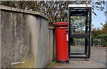 J5081 : Telephone box and pillar box, Bangor by Albert Bridge