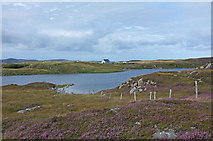NB1536 : Moorland and loch on Great Bernera by Rob Burke