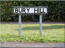 TM2750 : Bury Hill sign by Adrian Cable