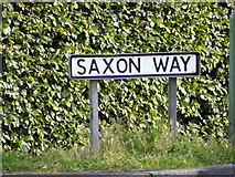 TM2750 : Saxon Way sign by Adrian Cable