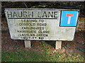 TM2650 : Haugh Lane sign by Adrian Cable
